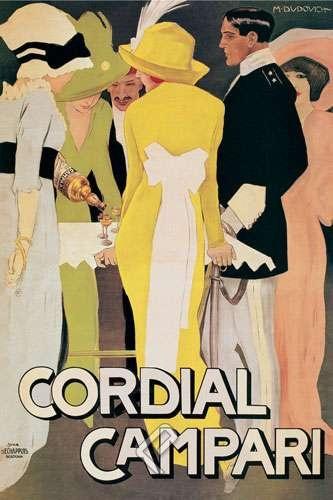Cordial Campari, Canvas by Marcello Dudovich at PosterCartel