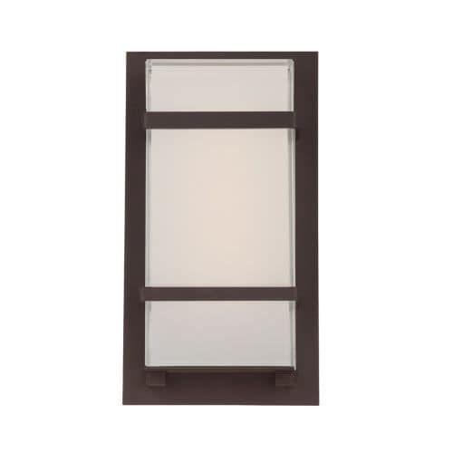 Modern Forms WS-W1611 Phantom 1 Light LED ADA Compliant Outdoor Wall Sconce - 6 Inches Wide (Bronze Finish), Gold (Aluminum)