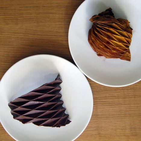 A collection of edible surfaces. Design meets Chocolate = Heaven