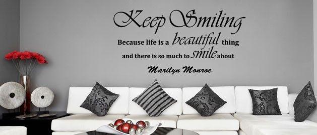 Keep Smiling (1629) / Samolepky na zeď, stěnu a nábytek