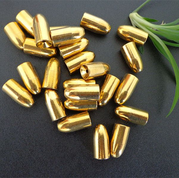 50pcs/lot Sinker Lure Accessory Copper Bullet weight 7g 1.8cm Lure Accessories everything for fishing Pesca