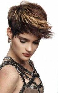 Trendy short haircuts for dark hair