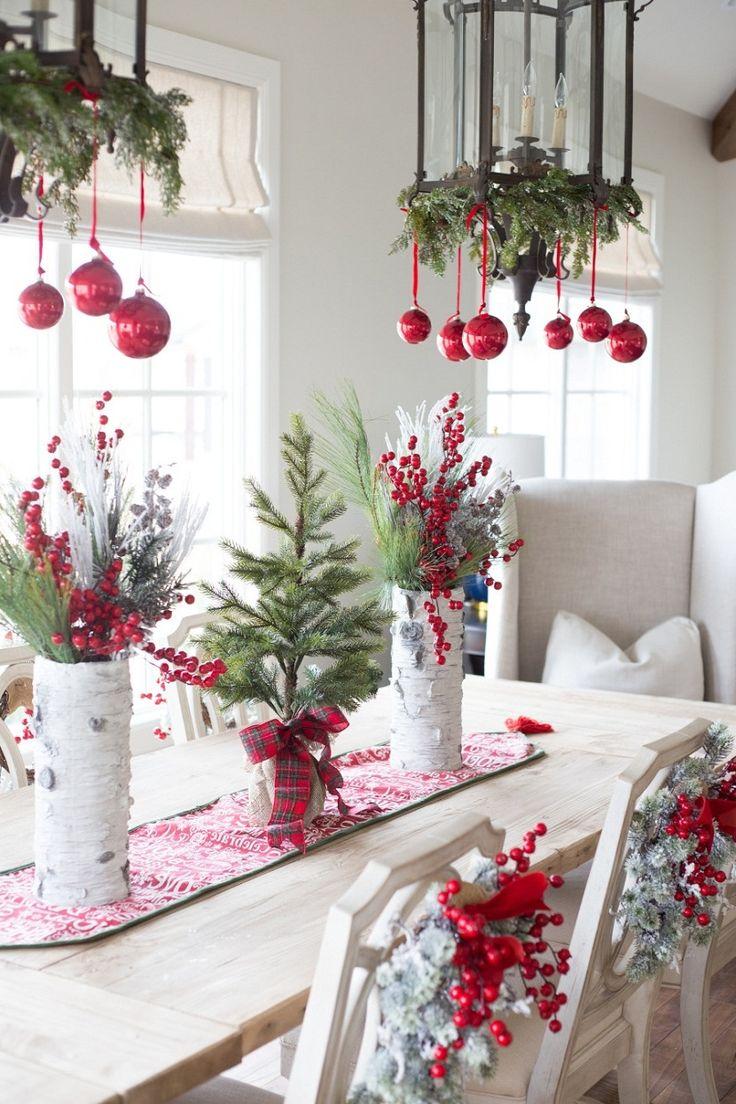 Einfache Dekoration Und Mobel Pantone Weihnachtskugeln #26: Tisch Weihnachtlich Dekorieren Mit Weihnachtskugeln