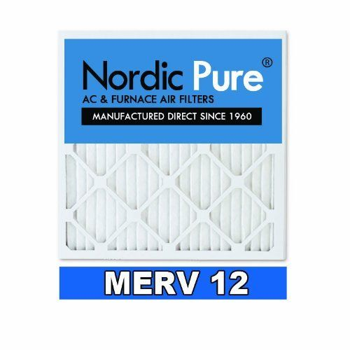 Nordic Pure 16x25x1 MERV 12 Pleated AC Furnace Air Filter , Box of 6 by Nordic Pure. $39.72. From the Manufacturer                Nordic Pure 16x25x1 MERV 12 Pleated AC Furnace Air Filters: Actual Size: 15-1/2-Inch by 24-1/2-Inch by 3/4-Inch. Changing your air filter is the first step in insuring your HVAC system runs at its optimal level this season. Generally, you should change your 4-Inch air filters every 3 to 6 months. Particles in indoor air are measured in microns, whi...
