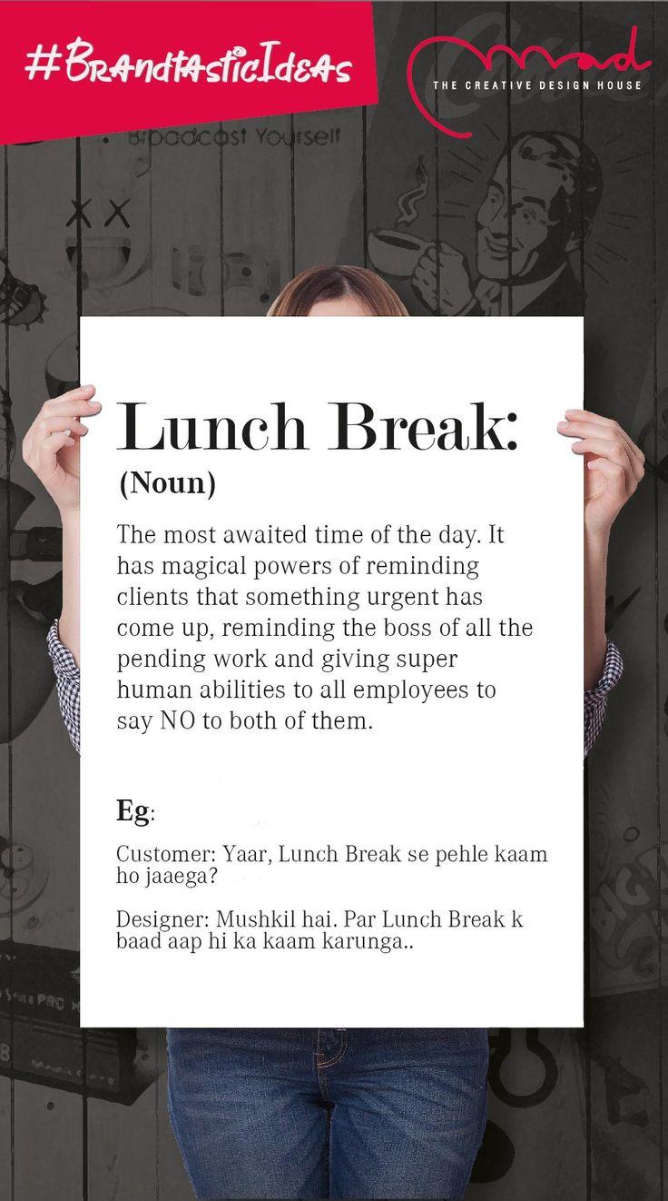 #brandtasticideas #MadDesigns #BrandDesign #BrandConsultancy #brand #india #business #Lunchbreak