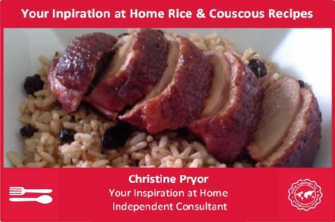 I love to eat rice and couscous for lunch, I find it gives me a great boost that lasts me until dinner. Whenever possible I choose brown rice as it is lower GI. For more information about the Your Inspiration at Home product range, visit my Facebook page - www.facebook.com/ChristinePryorYIAH
