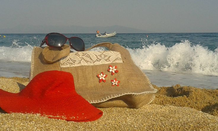 hand made bag by the sea..