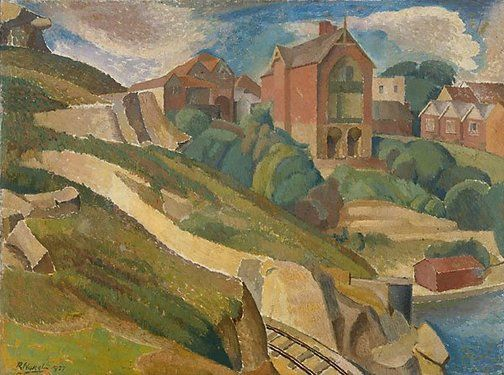 An image of The red house by Roland Wakelin