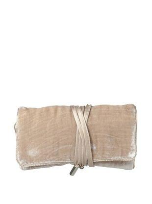 46% OFF Kumi Kokoon Small Velvet Jewelry Roll, Champagne, 6