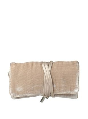 46% OFF Kumi Kokoon Small Velvet Jewelry Roll, Champagne, 6