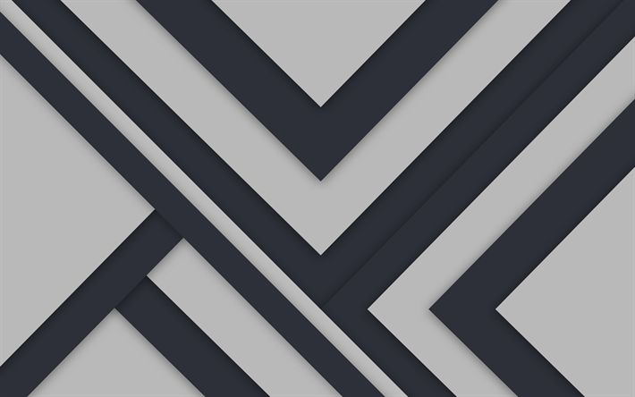 Download wallpapers gray background, lines, strips, material design, geometry, abstract material, art