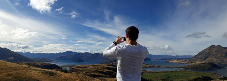 New Zealand - South island - Wanaka - from Aspiring mountain / Black Peak - Diamond lake conservation area - view on the Lake Wanaka - 45mins walks