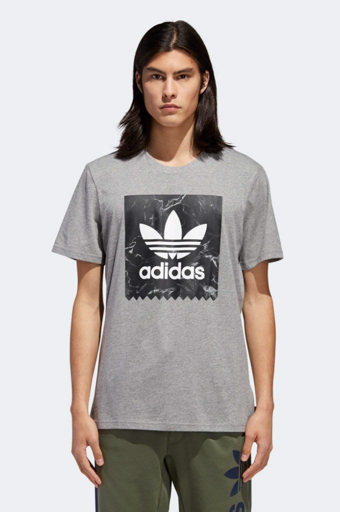 4470e959 #Adidas #Marble #BB #Tee - Two symbols of timelessness and tradition,  together at last. This staple cotton t-shirt has the iconic Trefoil logo  out in front, ...