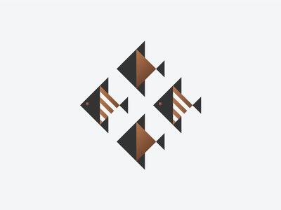 School of Fish  #animal #fish #logo #logotype #logomark #icon #elegant #luxury #minimal #geometry #branding #nadiacastro #design #logodesigner #london #logodesignerlondon #graphicdesign
