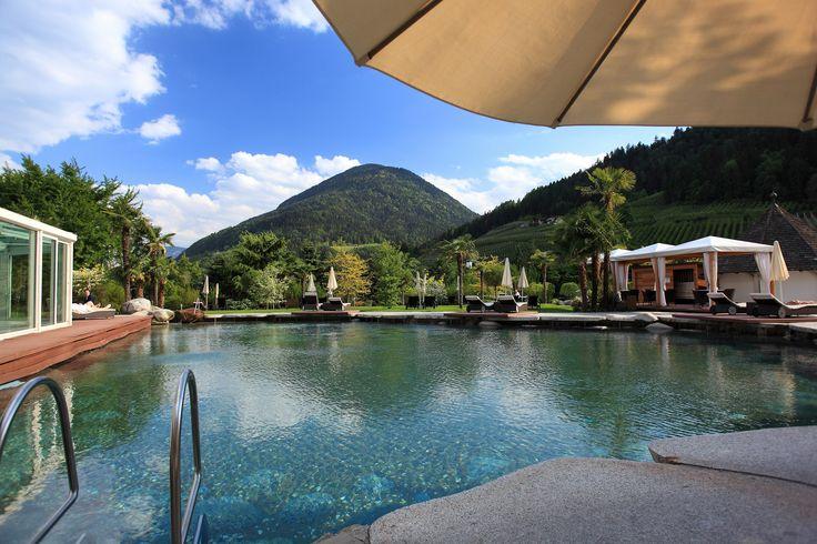 Unser Naturpool im Wellness-Garten La nostra piscina nel giardino benessere