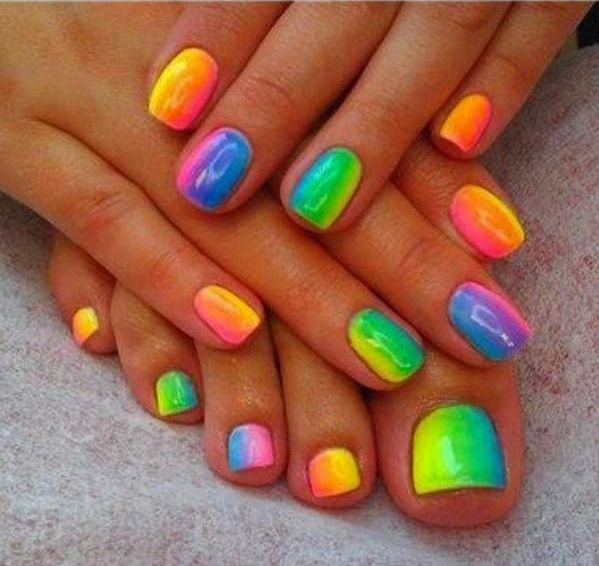 rainbow-colored-fingers-toes-nail-polish                                                                                                                                                     More