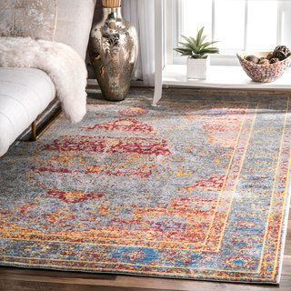 nuLOOM Antique Persian Vintage Border Rug (5'3 x 7'10) - Free Shipping Today - Overstock.com - 20837912 - Mobile