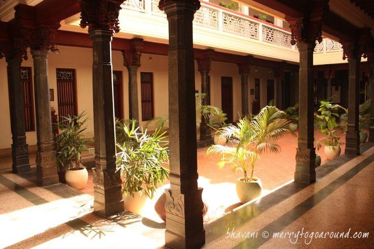 Centered courtyard..chettinadu style houses