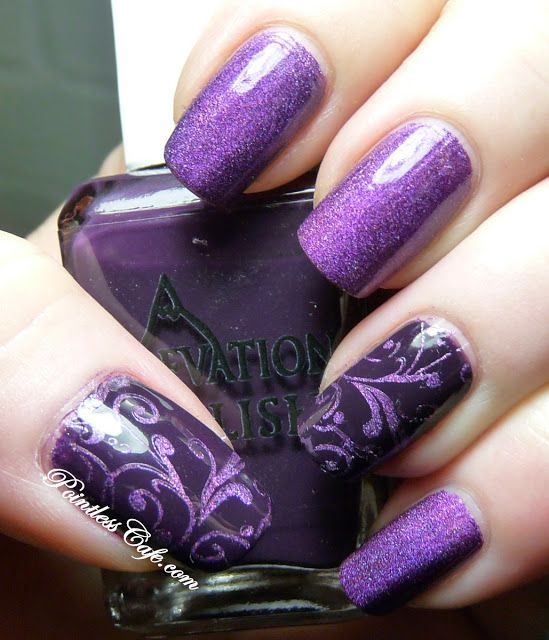 Nail of the Day - Purple-Mania