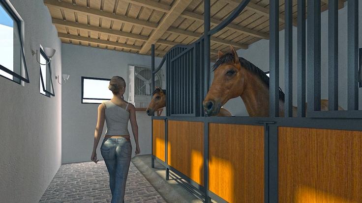 Elegant Horse Stable 3D Model Design