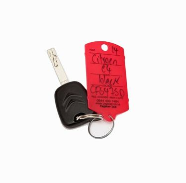 printed ring key tags
