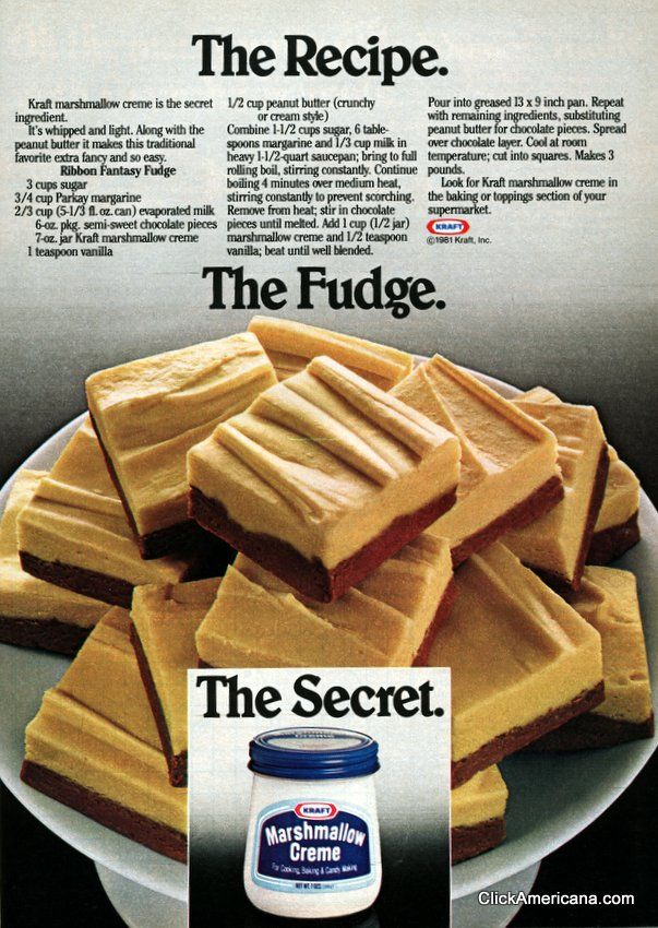 Ribbon Fantasy Fudge from 1981- Soft Chocolate and Peanut Butter Fudge...Delicious!!!