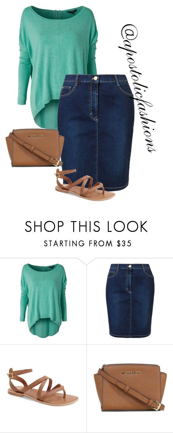 """""""Apostolic Fashions #1298"""" by apostolicfashions on Polyvore featuring mbyM, Betty Barclay, Topshop and Michael Kors"""