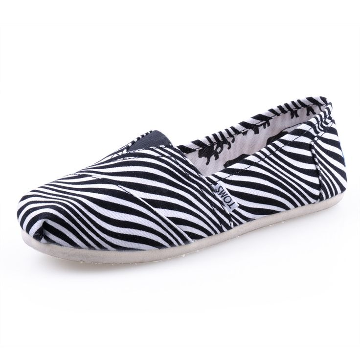 #TOMS #CheapTOMS Enjoy The Every Moment With New Arrival Toms Women Zebra Shoes White, Do Happy Yourself!