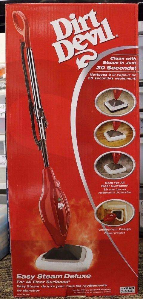 New Dirt Devil Easy Steam Mop Deluxe - PD20000B | Home & Garden, Household Supplies & Cleaning, Carpet Steamers | eBay!