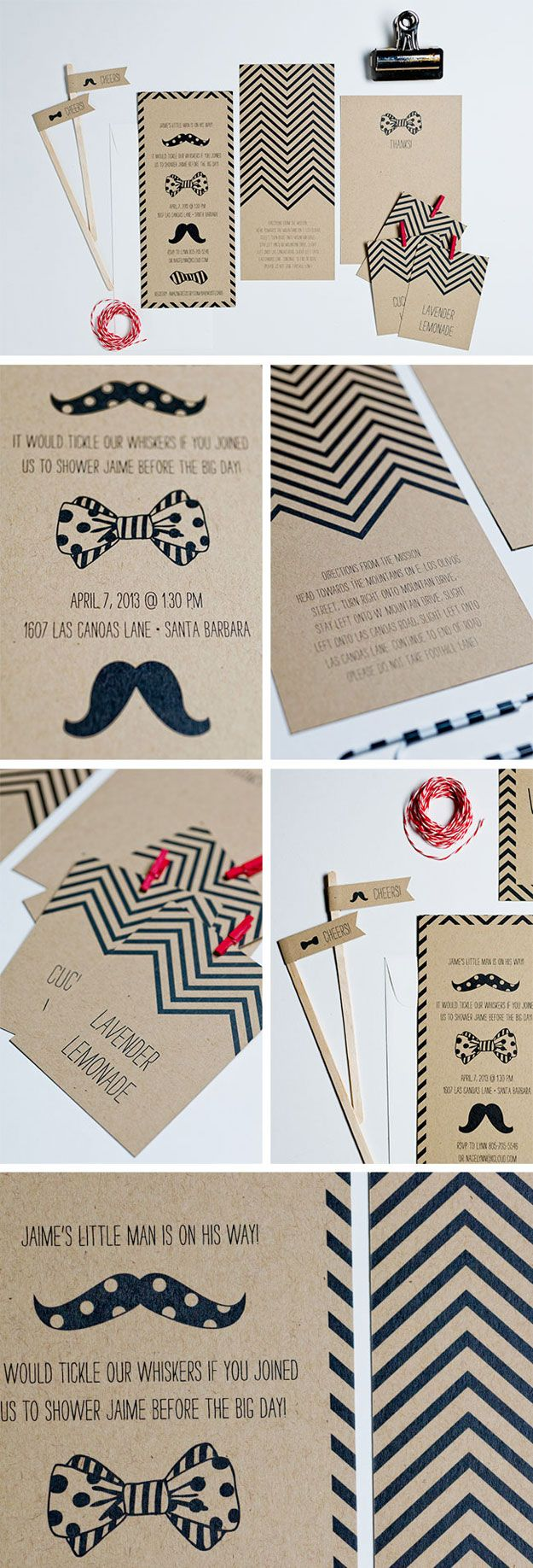 Mustache & Bowtie Baby Shower- love the bowtie and staches! !!