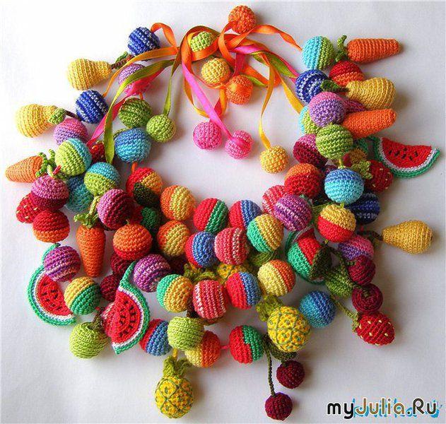 Оригинальность вязаных украшений: Рукоделие - женская социальная сеть :- Originality of knitted jewellry:  Craft-Women's Social Network on  myJulia.ru