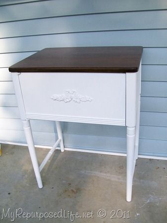 re-purposed sewing cabinet, mmm I have two of these old cabinets in the shed. mmm