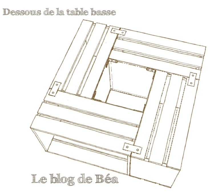 Construire une table basse bar for Construire une table en bois