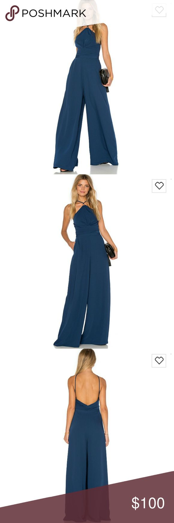 STYLESTALKER Kenya Jumpsuit Gown This jumpsuit is stunning in nightfall blue! It's can be dressed down or  up to wear at a black tie event! It has a side zipper.   Brand new with tags. Size small is sold out everywhere! Stylestalker Dresses