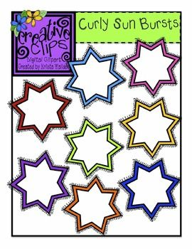 Free Curly Sunburst Clipart! Personal and Commercial use allowed. Creative Clips by Krista Wallden :)