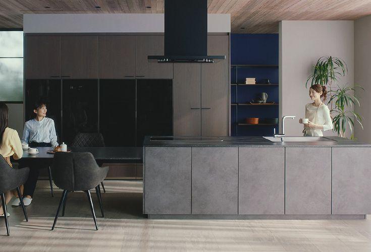 Panasonicのlクラスキッチンをご紹介 豪華なキッチンデザイン キッチンデザイン カスタムキッチン