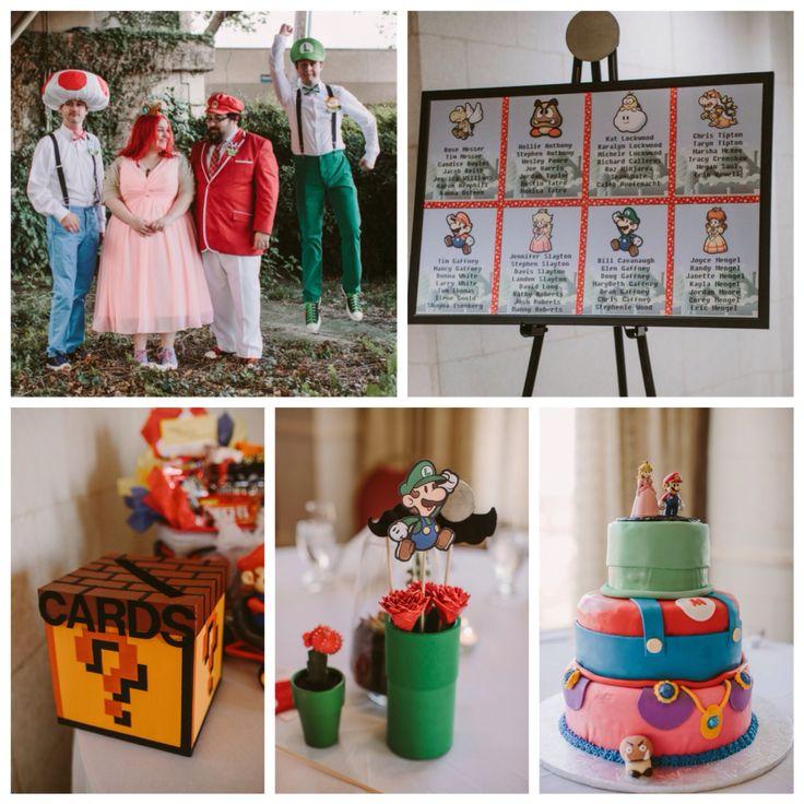 #Свадьба Шейны и Марка в стиль'е #SuperMario Фото: @megansaul #topweddingblogsbrideandstyle @offbeatbride #жених #невеста #декор #идеидлясвадьбы #тематическаясвадьба #торт #свадебныйторт #розовоеплатье #wedding #celebration #weddingdress #party #happy #bride #groom #friend #love #instafun #cake  #games #fun #weddinginspiration #nintendo