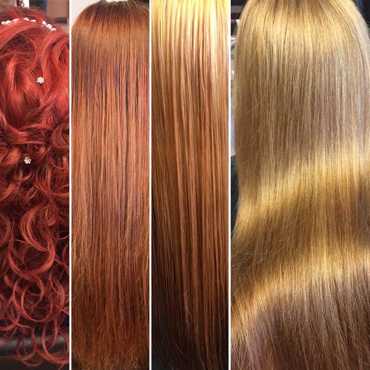 Das kann nur OLAPLEX !!! Von knallig Rot zurück zum natürlichen Blond mit Illumina Color und Olaplex.