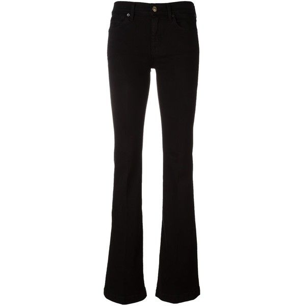 7 For All Mankind 'Charlize' bootcut jeans ($225) ❤ liked on Polyvore featuring jeans, pants, black, bootcut jeans, 7 for all mankind, 7 for all mankind jeans, boot cut jeans and boot-cut jeans