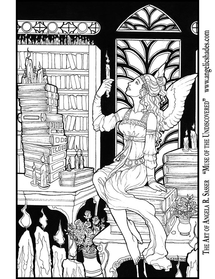 Muse Of The Undiscovered Line By AngelaSasserdeviantart On DeviantArt Download A Art MuseColoring Book