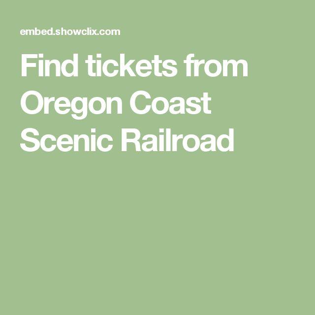 Find tickets from Oregon Coast Scenic Railroad