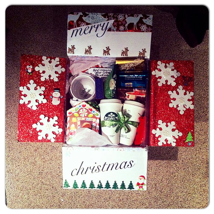 The Christmas care package I made!