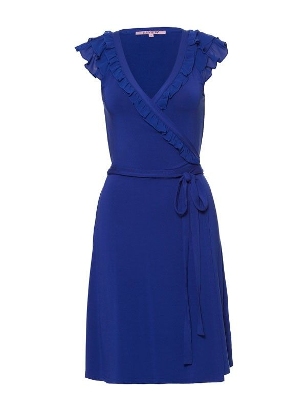 Review Australia | Linnie Short Sleeve Dress Cobalt