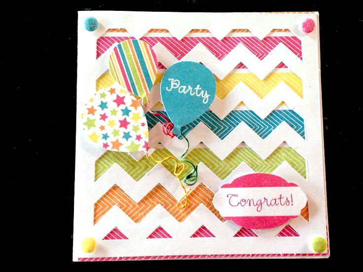 Card made by Michelle Benson, using Celebrations kit from Craftwork Cards.