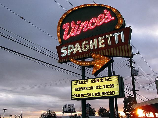 Vince's Spaghetti - Ontario, California by Vintage Roadside, via Flickr