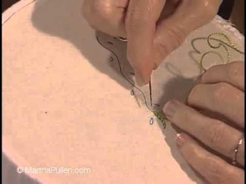 Wendy Schoen's Hand Embroidered Stem Stitch - YouTube