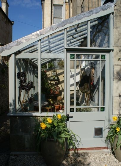 Wooden Greenhouse with leaded glazing bars