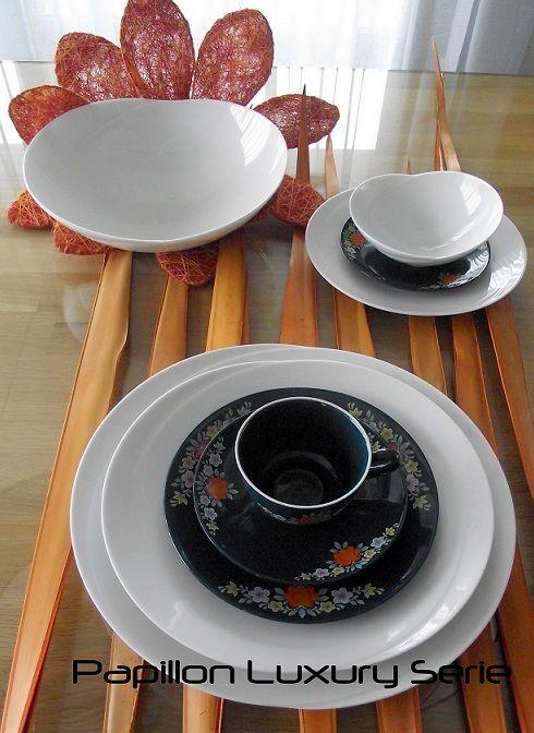 Papillon Luxury serie gecombineerd met een 40 jaar oud servies  #porselein #servies #vintage