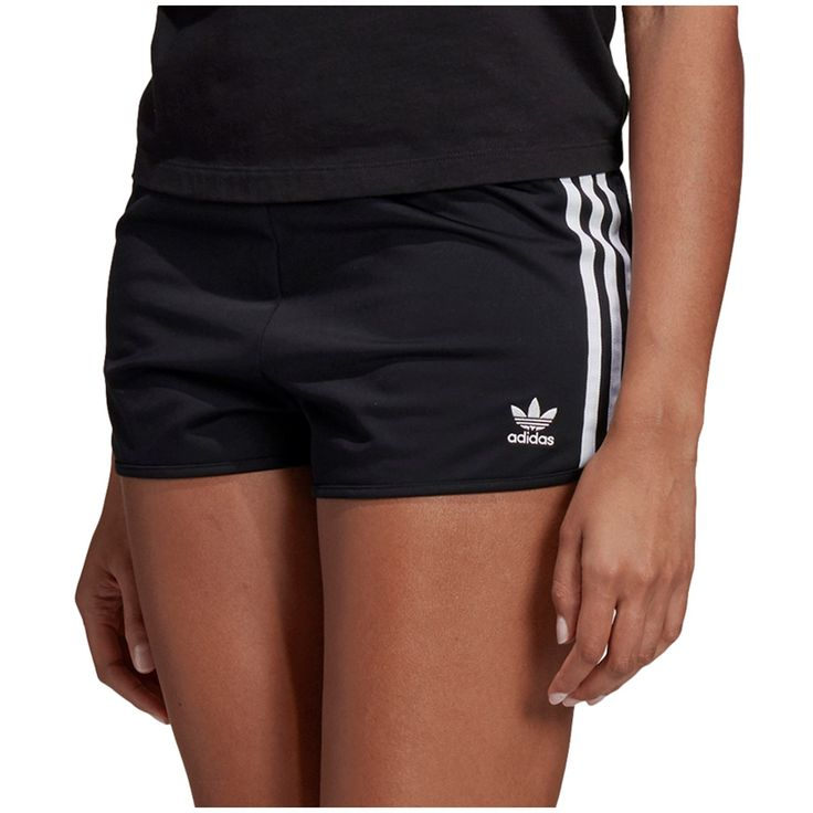 Women's Adidas 3 Stripes Shorts 2019 - Large Black | Polyster 3