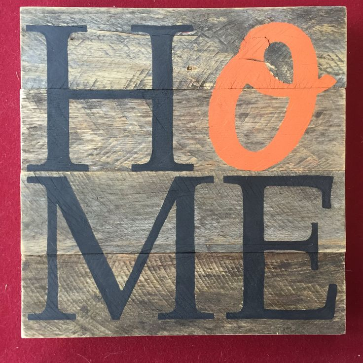 Custom HOME sign // Baseball // Orioles // Sailboat // Maryland // Baltimore // Gifts for Her // Gifts for Him // Wedding by KellieBodenDesigns on Etsy